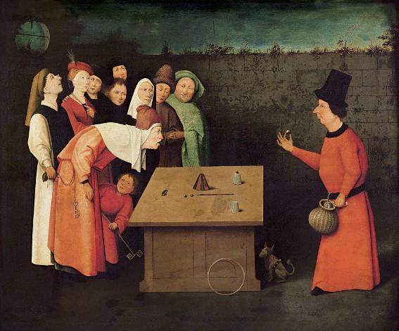Jérôme Bosch (d'après), L'Escamoteur, vers 1475, Saint-Germain-en-Laye, Musée municipal