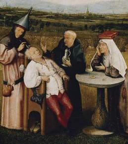 Jérôme Bosch (d'après), L'Excision de la pierre de folie, vers 1490, Madrid, musée du Prado