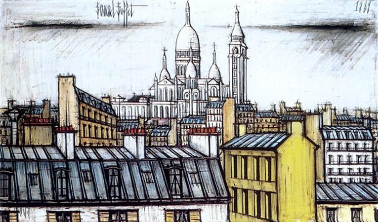 « Le Sacré-Coeur de Montmartre », Bernard Buffet, 1989, DR.