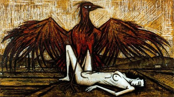 « Les oiseaux : L'aigle », Bernard Buffet, 1959 DR.