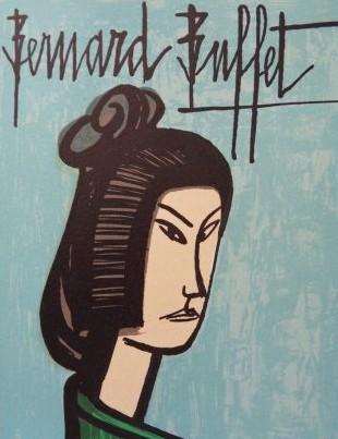 « Japonaise », lithographie sur pierre, Bernard Buffet, 1981, DR.