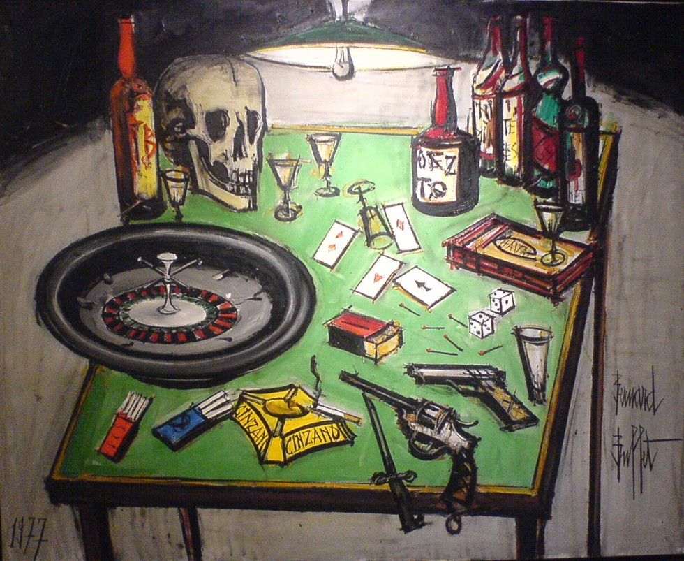« Le grand jeu », Bernard Buffet, 1977 DR.