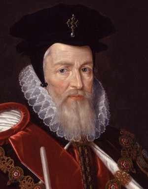 William Cecil, 1er baron Burghley, juillet 1572 ; 4 août 1598 (portrait par Marcus Gheeraerts, National Portrait Gallery, Londres)