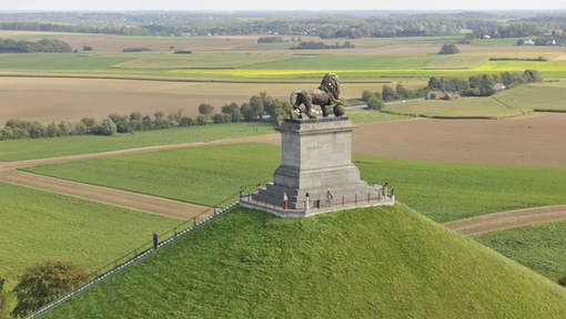 La butte du Lion, sur le site de Waterloo (Belgique), DR