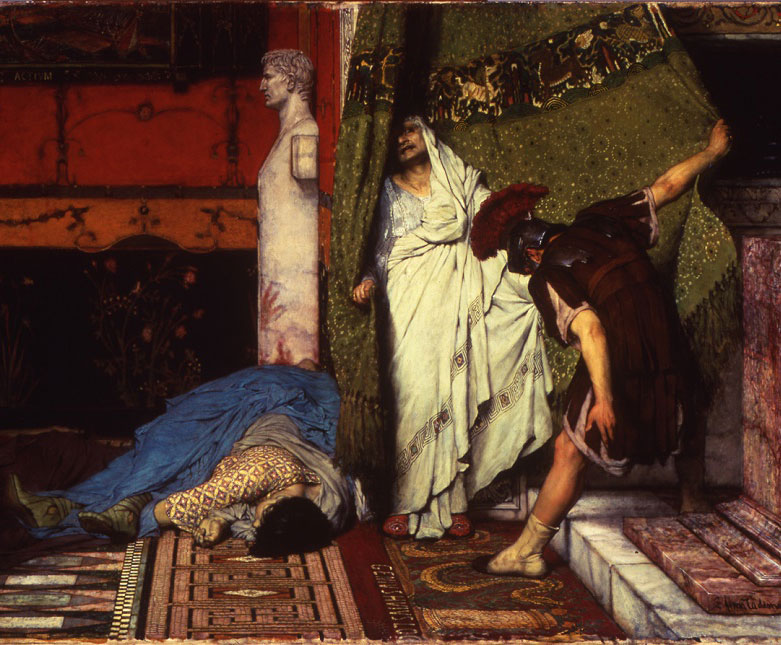 Un empereur romain (assassinat de Caligula et proclamation de Claude) (Alma-Tadema, 1871, Walters Art Museum, Baltimore)