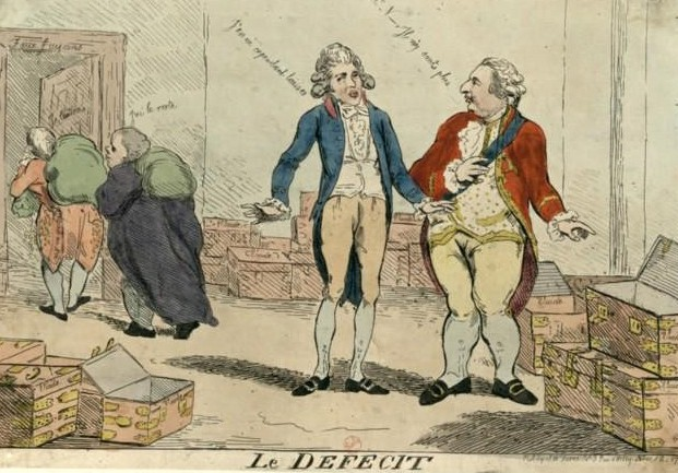 Calonne et Louis XVI – Illustration source Gallica.bnf.fr / Bibliothèque nationale de France.