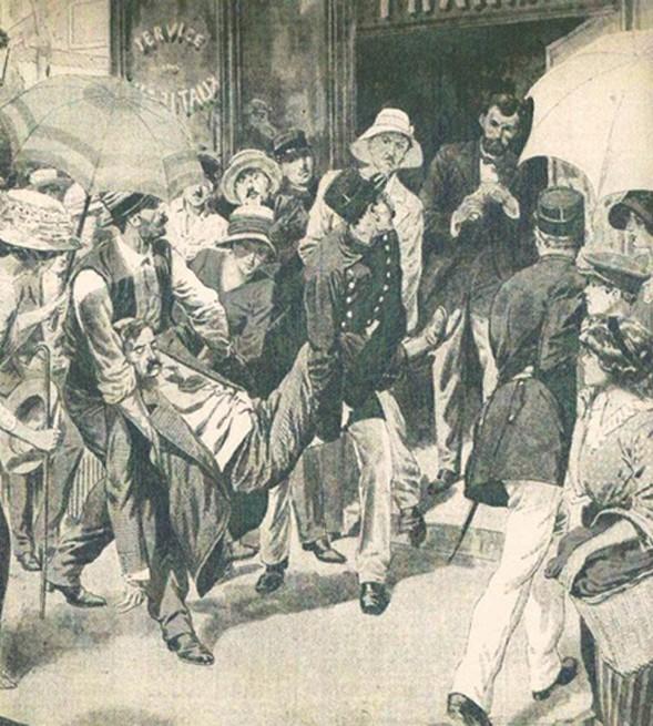 Canicule de 1911, illustration, chroniques météorologiques de Paris.