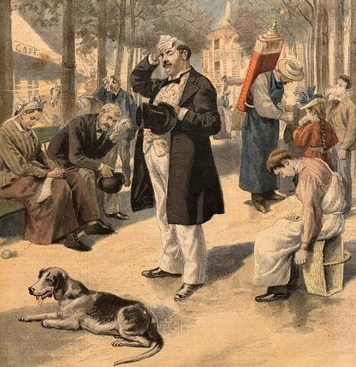 Le Petit Journal, la canicule parisienne à la Une du 9 septembre 1895, BnF Paris.