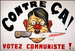 Raoul Cabrol, L'Homme au couteau entre les dents, caricature de Hitler, 1936, Paris, Bibliothèque de documentation internationale contemporaine