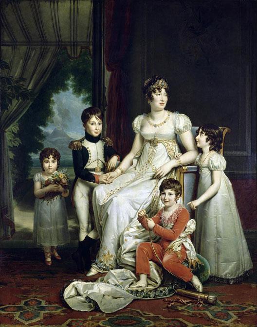 Caroline Murat et ses enfants par le baron François Gérard (musée du Louvre)