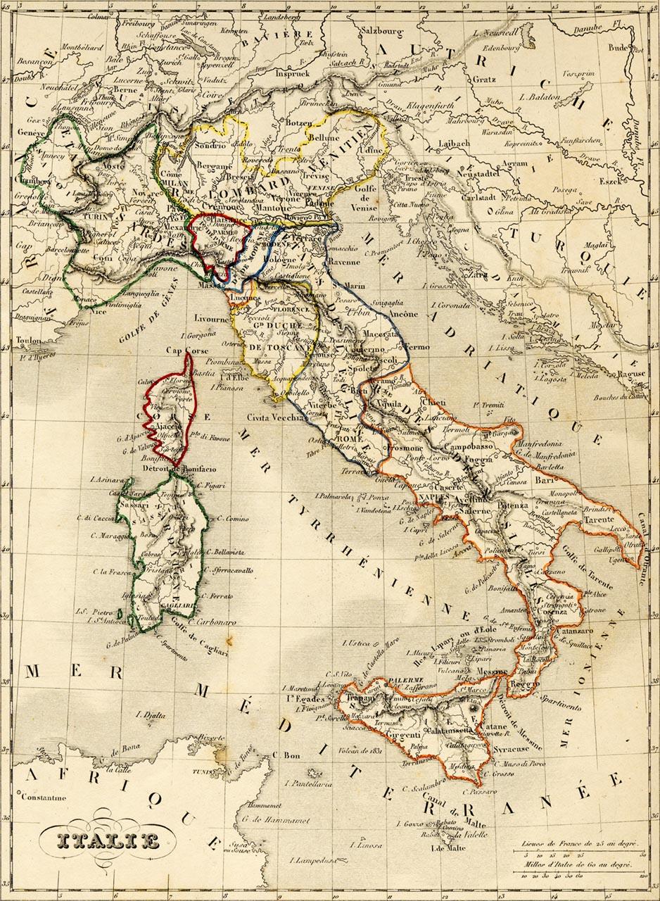 L'Italie en 1843