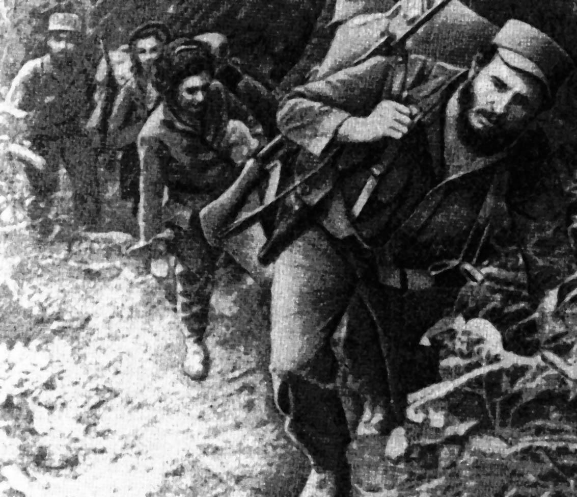 Fidel Castro et ses partisans dans la Sierra Maestra