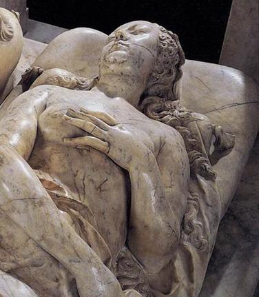 Gisant de Catherine de Médicis (XVIe siècle, Germain Pilon, nécropole de Saint-Denis)