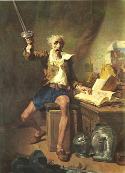 Célestin Nanteuil, La Lecture de Don Quichotte, 1873, Dijon, musée des Beaux-Arts.