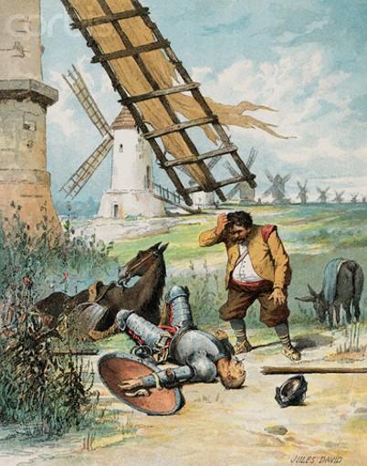 Jules David, illustration pour Histoire de Don Quichotte, éd. Garnier, 1887.