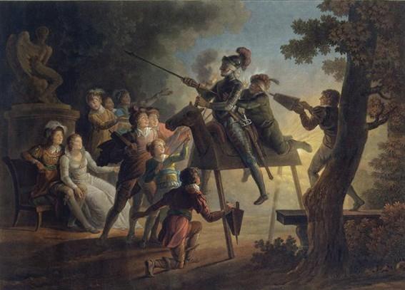 Charles-Melchior Descourtis, Jean Frédéric Schall, Don Quichotte, XIXe siècle, Paris, Bnf.