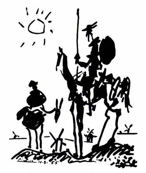 Pablo Picasso, Don Quixote, publié dans le journal Les Lettres françaises, 1955.