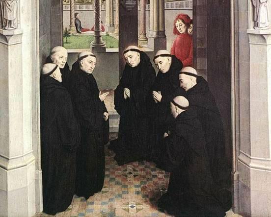 Réunion du chapitre général dans un monastère clunisien (XVe siècle, prieuré de Notre-Dame de Longpont, Essonne)