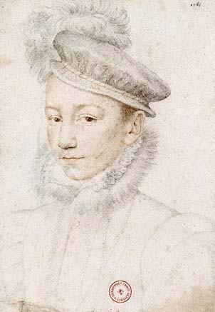 Charles IX à dix ans (27 juin 1550, Saint-Germain-en-Laye ; 30 mai 1574, Vincennes), par François Clouet, BNF