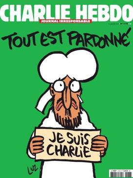 Couverture de Charlie Hebdo après les attentats des 7-8 janvier 2015