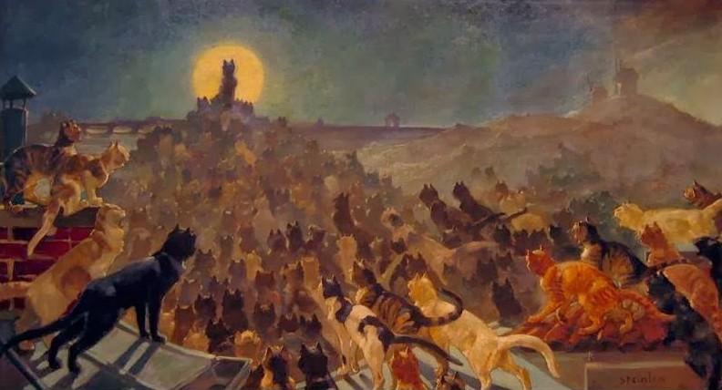 L'Apothéose des Chats à Montmartre, Théophile-Alexandre Steinlen, 1905, musée de Montmartre, Paris.