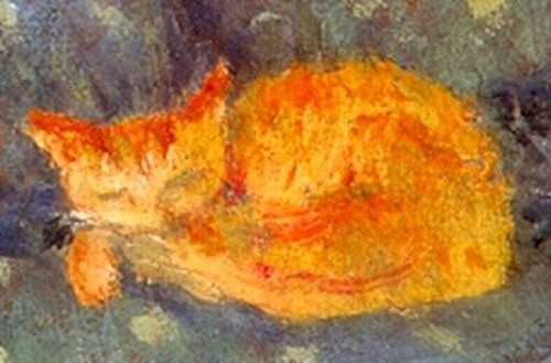 Chat roux dormant, Pierre Bonnard, musée Bonnard, Le Cannet, France.