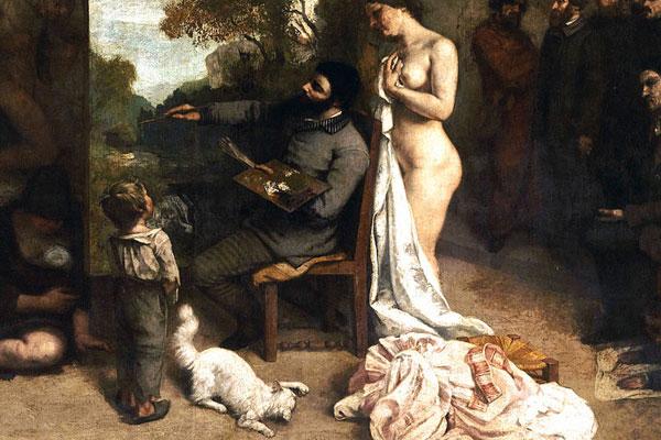L'atelier du peintre, Gustave Courbet, 1855, musée d'Orsay, Paris.