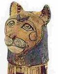 Momie d'un chat, Antiquités égyptiennes, musée du Louvre, Paris.
