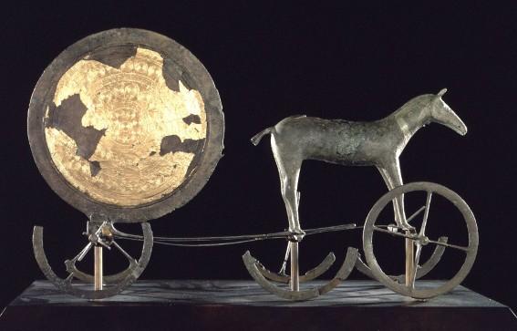 Char du soleil de Trundlhom, âge du bronze, Copenhague, Musée national.