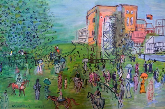 Raoul Dufy, Ascot, vers 1930, musée d'Art moderne, Troyes.