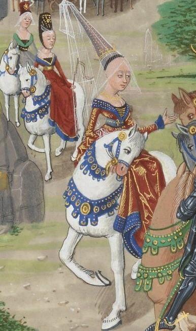 Enluminure extraite des Chroniques sire Jehan Froissart, XIVe et XVe s. Elles retracent les conflits qui opposent la France et l'Angleterre entre 1327 et 1400 - Source Gallica.bnf.fr