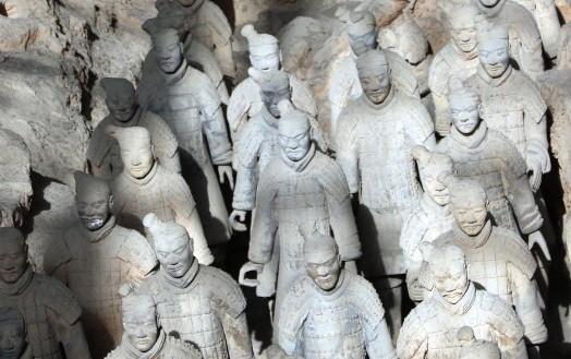 Xi'an : vue de la fosse n°1 - Photo Gérard Grégor, 2015.