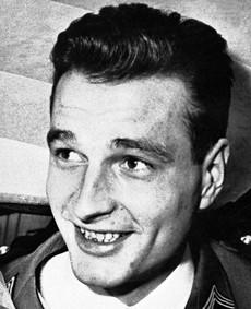 Jacques Chirac en 1956.