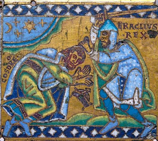 Héraclius défait l'empereur perse Chosroès II (icône byzantine, Musée du Louvre, Paris)