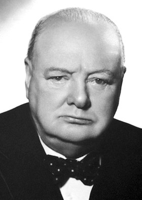 Winston Churchill (November 30, 1874, Blenheim Palace - January 24, 1965, London)