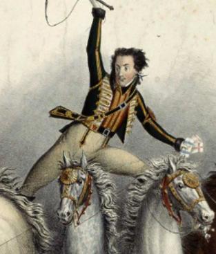 L'écuyer Andrew Ducrow (1827)