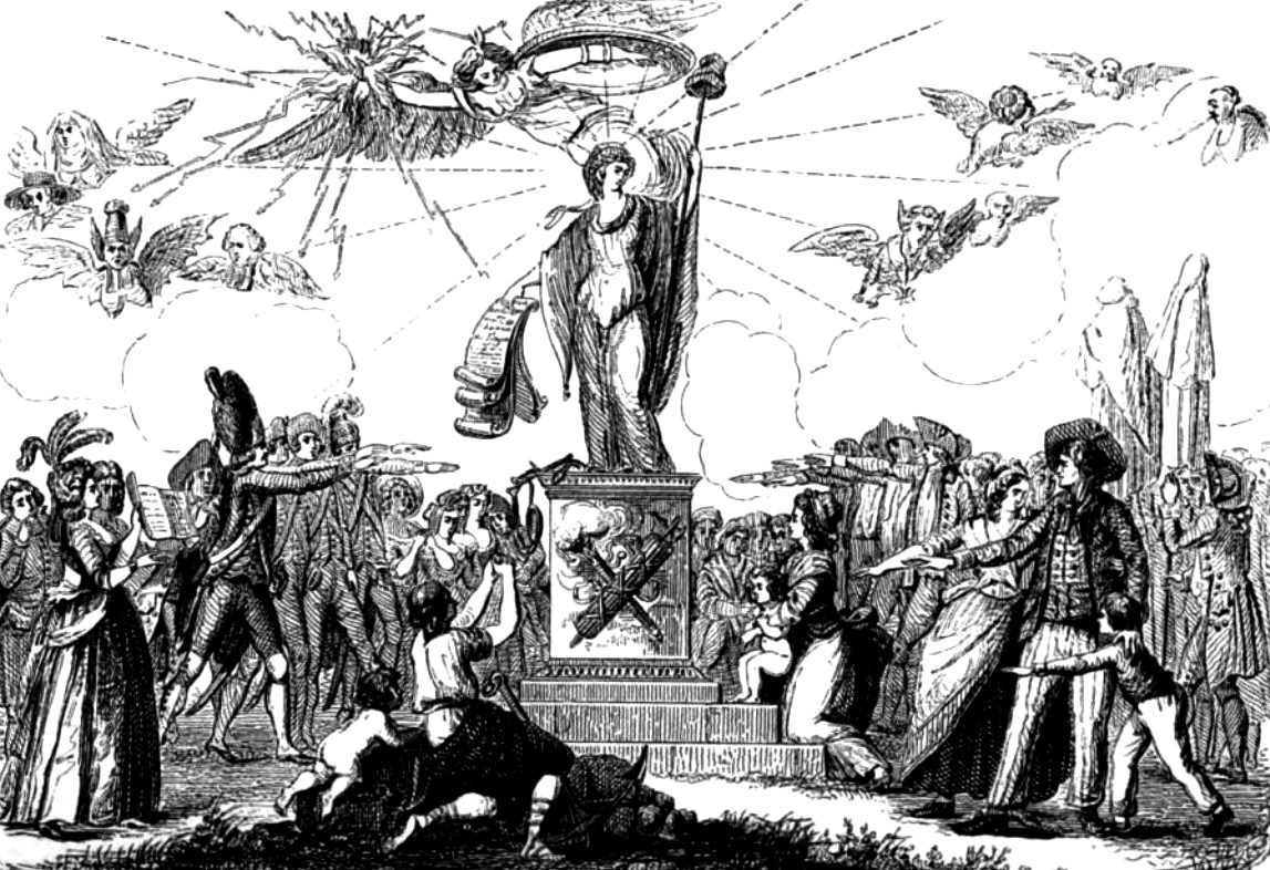 L'acceptation de la Constitution de 1791. Illustration extraite de l'ouvrage d'Augustin Challamel, Histoire-musée de la République française, depuis l'assemblée des notables, Paris, Delloye, 1842.