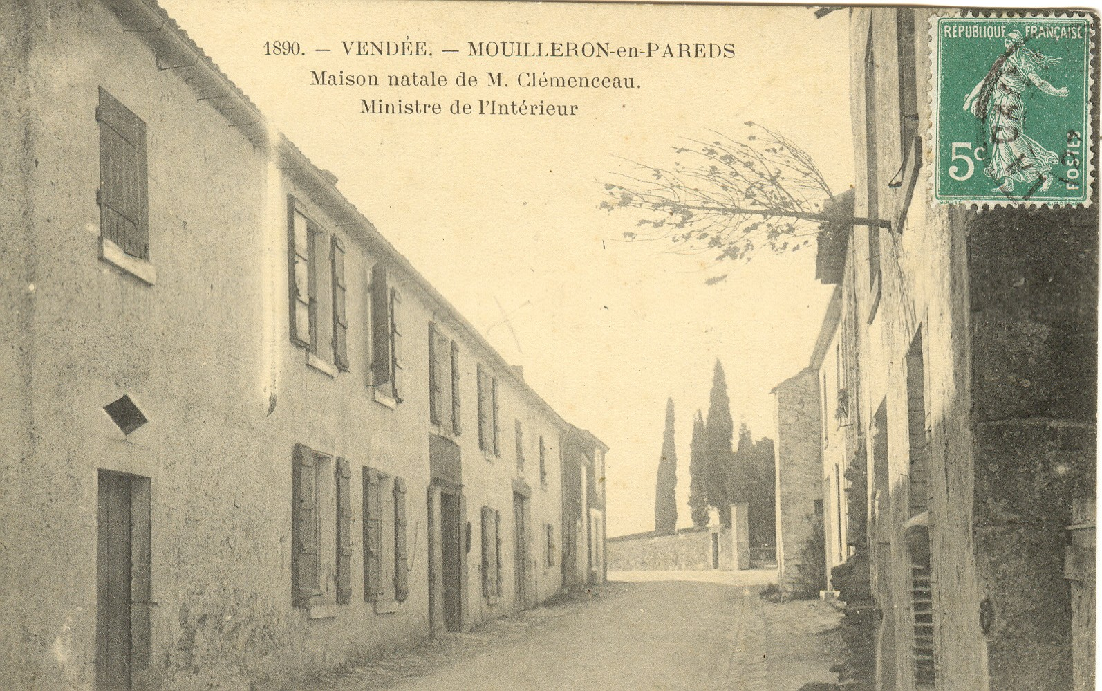 Maison natale de Georges Clemenceau à Mouilleron-en-Pareds (Vendée) © collection musee national Clemenceau-de Lattre