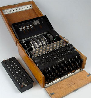 Machine Enigma, National Museum of Royal Navy, Portsmouth