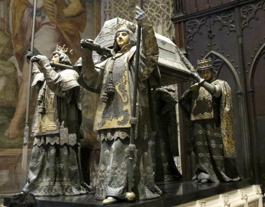 Le tombeau de Christophe Colomb dans la cathédrale de Séville (1902)