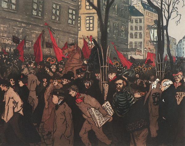 Les funérailles de Louise Michel à Paris le 22 janvier 1905 (Albert-Pieters Desteray)
