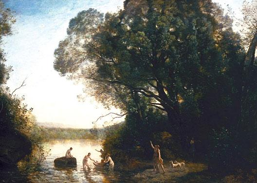 Le Bain de Diane (Camille Corot, 1855, musée des Beaux-Arts, Bordeaux)