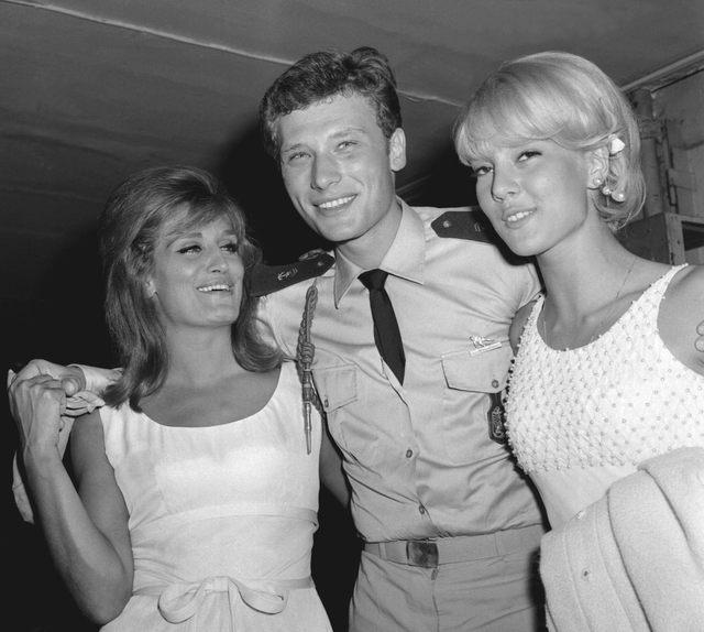 Dalida, Johnny et Sylvie Vartan en 1964 (DR)