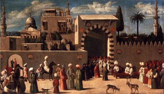 Anonyme, Réception des ambassadeurs vénitiens à Damas, 1511, Paris, musée du Louvre