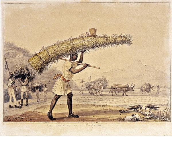 Scène du Brésil colonial (Jean-Baptiste Debret, Voyage pittoresque et historique au Brésil, 1834)
