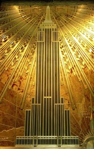 Décor mural de l'Empire State Building, 1931, New York