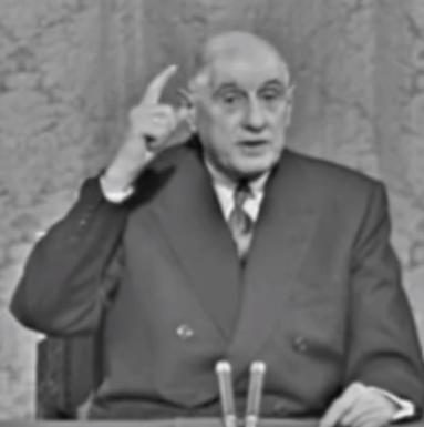 Charles De Gaulle, conférence de presse du 27 novembre 1967