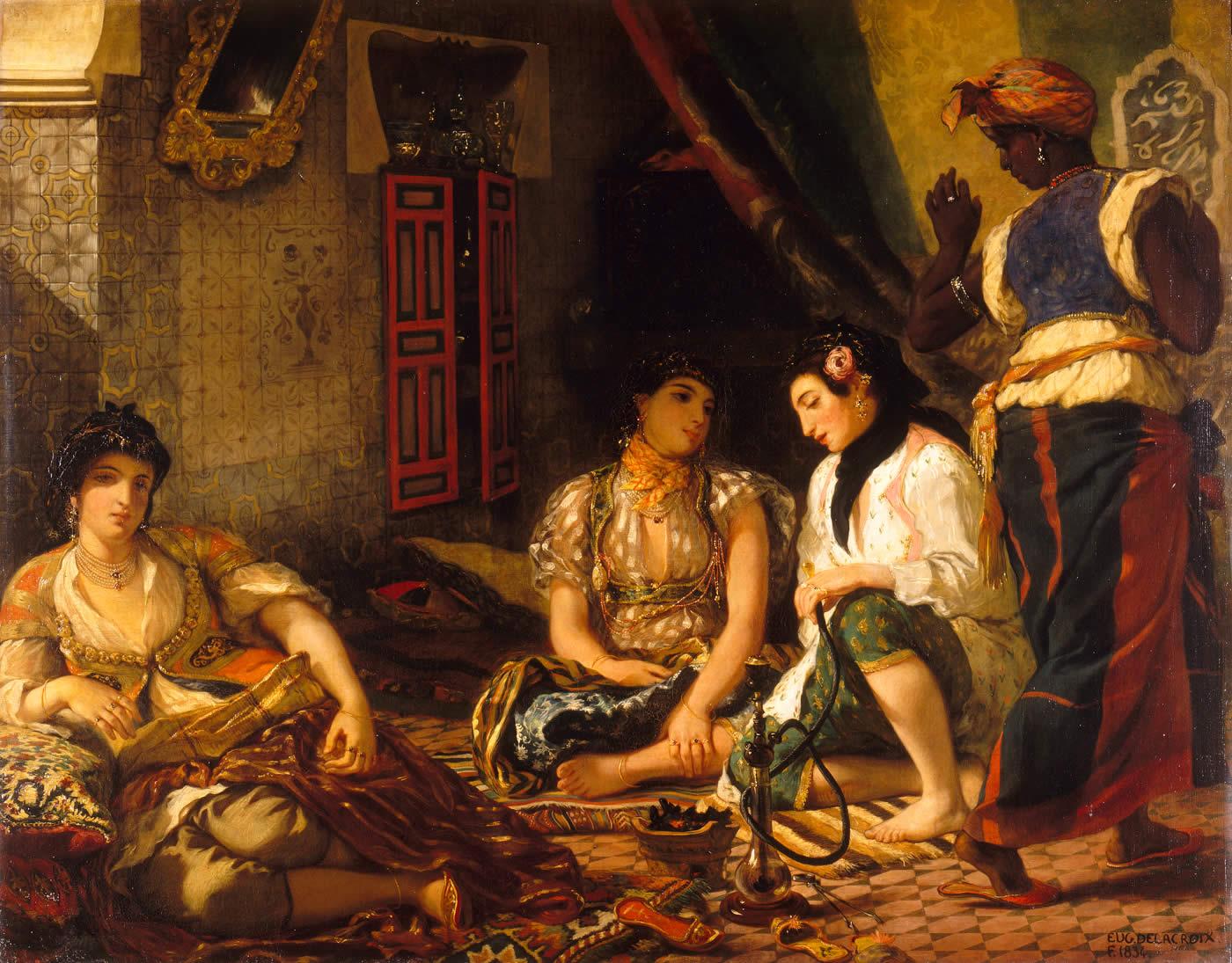 Eugène Delacroix, Femmes d'Alger dans leur appartement, 1834, Paris, musée du Louvre