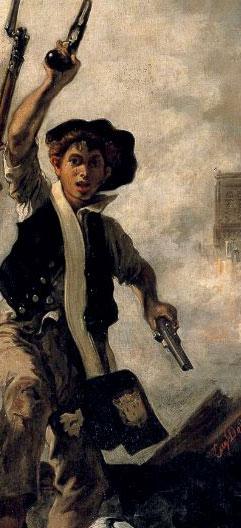 Eugène Delacroix, La Liberté guidant le peuple (détail), 1831, Paris, musée du Louvre