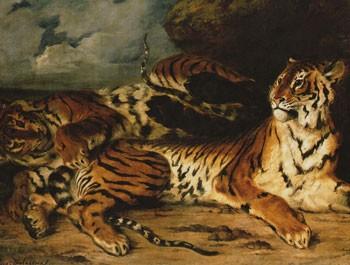 Eugène Delacroix, Jeune tigre jouant avec sa mère, 1831, Paris, musée du Louvre